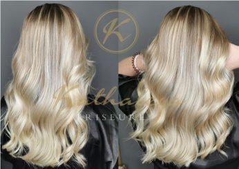 hochwertige Balayage Frisur in blond